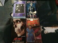 Lot of 4 Horror Vhs Tapes Carnival of Souls, Evil Dead 2, Nosferatu, Metropolis