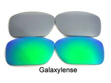 Galaxy Replacement Lenses For Oakley Turbine Sunglasses Green&Titanium Polarize