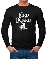 Herren Long-Sleeve Lord of the Board Snowboard-Fahrer Snowboarder Langarm-Shirt