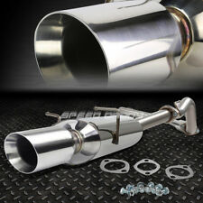 """FOR 05-07 CHEVY COBALT 4""""OVAL MUFFLER ROLLED TIP STAINLESS STEEL CATBACK EXHAUST"""