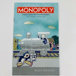 2003 Monopoly Collectors Train Edition Rules Booklet Replacement EUC