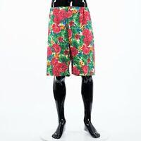 GUCCI 950$ Multi Color Linen Floral Shorts