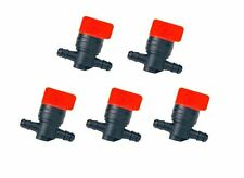 "(5) FUEL GAS SHUTOFF CUTOFF VALVES 1/4"" for Stens 120-212 Rotary 5841 Tractors"