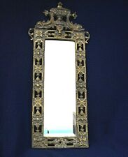 Antique Cast Bronze, c1910 Rococco Dolphin and Urn, Wall Mount B & H Mirror