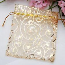 50pc Wedding Party Jewelry Candy Organza Drawstring Favour Mini Bag Nice