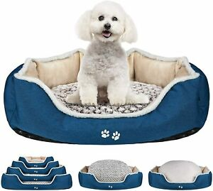 KROSER Deluxe Dog Bed with Reversible Pillow (Warm and Cool), Super Soft Sleepin