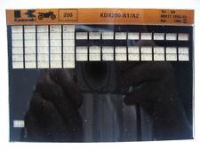 Kawasaki KDX200 1983 - 1984 Parts Microfiche NOS k191