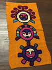 Vintage Handwoven Wall Art Rug Tapestry Mexican Guatemalan Aztec Southwestern