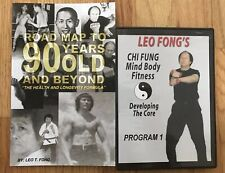 A Road Map To 90 Years And Beyond Book + Chi Fung Dvd Leo Fong Signed Bruce Lee