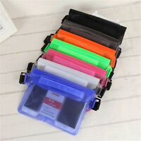 Pouch Bag Waterproof Case With Waist Strap For Beach Swimming Boating Kayak DD