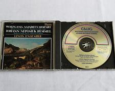 LINOS Ensemble/MOZART Quintet KV 452-HUMMEL Septet op.74 GERMANY CD CALIG(1990