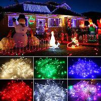 100/200/300/400 Led Impermeable Guirnalda Luces Exterior Árbol de Navidad Boda