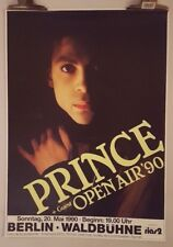 Prince open air '90 Berlin  1990 Original Tour Concert poster