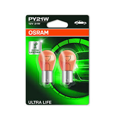 2x Peugeot 807 Genuine Osram Ultra Life Front Indicator Light Bulbs Pair