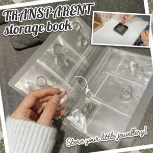 Clear Plastic Transparent Jewelry Storage Holder Book