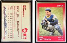 Bert Heffernan Signed 1989 Star #109 Card Helena Brewers Auto Autograph