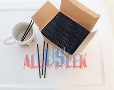 Coffee Stirrers Straws Black Cocktail Party Bar Drink Sticks Free Shipping