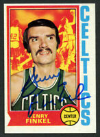 Henry Finkel #118 signed autograph auto 1974-75 Topps Basketball Trading Card