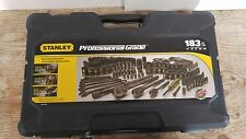 STANLEY 183-PIECE BLACK CHROME FINISH SOCKET SET NEW