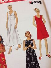 Simplicity New Look 6866 Dress In Two Lengths Sleeveless 10-24 Uncut
