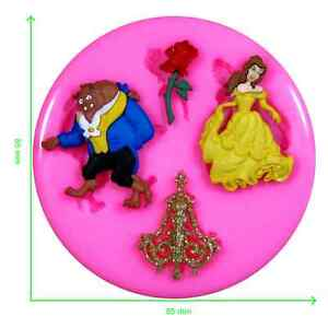 Disney Beauty and the Beast Silicone Mould by Fairie Blessings