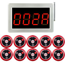 Restaurant Guest Server Calling System Led Display Host Receiver+10XCall Buttons