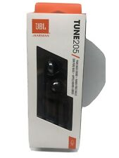 JBL Tune 205 In Ear Headphone Black T205BLKAM with One-Button Remote/Mic