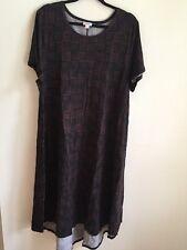 NWT LuLaRoe 3XL Carly Dress Black Brown