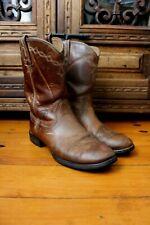 Ariat Heritage Leather Western Cowboy Cuban Boots Size US 7 c UK 4.5 Eur 37.5 w