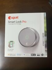 August Smart Lock Pro w/Connect Wi-Fi Bridge - Silver. Brand New! Factory Sealed