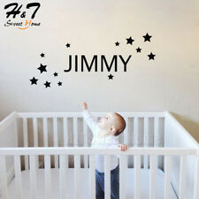 Stars Custom Name Removable Vinyl Wall Sticker Decal Kids Room Bedroom Nursery