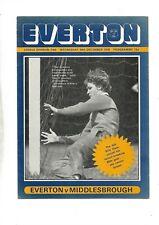 EVERTON V MIDDLESBROUGH 29/12/1976 DIVISION 1 (e)