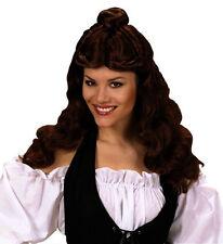 Onorevoli Lunga Marrone Parrucca Principessa Belle Bella bestia Disney Favola Fancy Dres