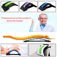 1X Back Magic Stretcher Lower Lumbar Pain Spine Massager Support Posture Relief