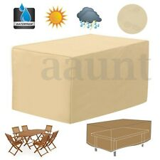 48'' Rectangular Patio Coffee Table Covers Garden Outdoor Furniture Protection