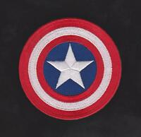 """Avengers Captain America Shield Iron on  Movie patch 3"""" 100% Embroidered"""