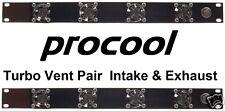 PROCOOL TV440 & TV440E - (1U) Rack Mount Fan Panels - 1 intake and 1 exhaust