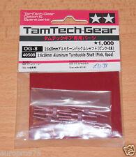Tamiya 40508 2.6x29mm Aluminum Turnbuckle Shaft (Pink, 6 Pcs.) (GB01/GB-01) NIP