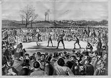 BOXING BLOODY BRUTAL BLACKGUARD PRIZE-FIGHT HEENAN VS SAYERS 1860 EARLY BOXING
