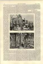1890 BROKEN Hill miniera d'argento di piombo Smithy FORNI Avvolgimento MOTORI