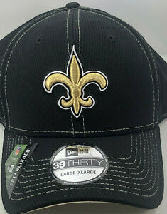 New Orleans Saints / New Era 39Thirty / BLACK / NWT Reg $34 - 50% OFF