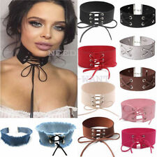 Leather Retro Collar Costume Necklaces & Pendants