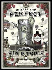 Hendrick's Gin And Tonic , Retro metal Sign Novelty Gift, Bar/Pub