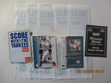2003 McDonald's Yankees Derek Jeter sealed cello pack (1 sealed pack)