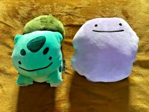 "Pokemon Ditto Bulbasaur Transform Reversible 10"" /25cm Plush Teddy Soft Toy -NEW"