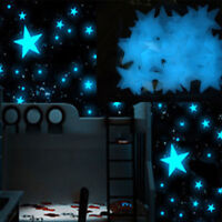 80pcs Wall Glow In The Dark Stars Stickers Baby Kids Nursery Bed Room Ceiling US