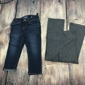 Girls Old Navy Skinny Jeans Size 5 Justice Leggings Gray Blue Lot