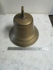 Vtg  Antique 1930's Large 10.5 Inch BRASS SHIPS BELL w/ Original clacker NICE