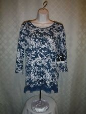 3/4 Sleeve Blouses Simply Vera Vera Wang LG,MD,SM,Multi Color 100% Polyester NWT