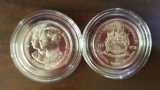 Thailand Coin 10 Baht1987 100th Chulachomklao Military Academy Y189 + Holder